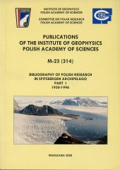 Bibliography of Polish Research in Spitsbergen Archipelago. Part I: 1930-1996