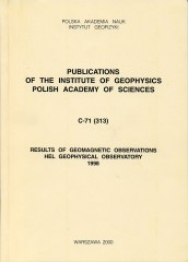 Results of Geomagnetic Observations, Hel Geophysical Observatory, 1998
