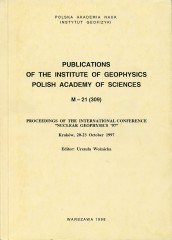 "Proceedings of the International Conference ""Nuclear Geophysics ´97"", Kraków, 20-23 October 1997"