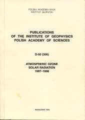Atmospheric Ozone, Solar Radiation, 1997-1998