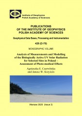 Analysis of Measurements and Modelling of the Biologically Active UV Solar Radiation for Selected Sites in Poland – Assessment of Photo-medical Effects