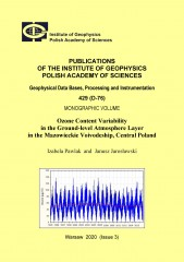 Ozone Content Variability in the Ground-level Atmosphere Layer in the Mazowieckie Voivodeship, Central Poland