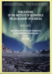 Bibliography of Polish Research in Spitsbergen Archipelago. Part II: 1997-2006
