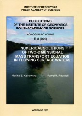 Numerical Solutions of Two-Dimensional Mass Transport Equation in Flowing Surface Waters