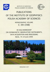 XII IAGA Workshop on Geomagnetic Observatory Instruments, Data Acquisition and Processing, Belsk, 19-24 June, 2006