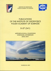Meteorological Conditions, Hornsund, Spitsbergen 2000/2001